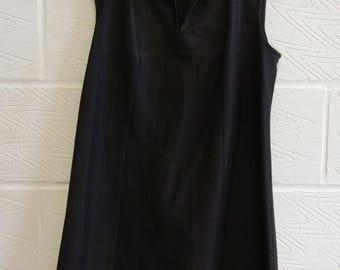 70s Brown Mod Dress - Size 16