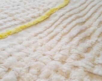 Vintage Chenille Bedspread Fabric Scrap