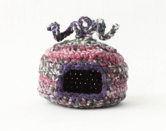 Mouse cage accessories/ Mice house/Mouse Hammock/ Dzungarian hamster bed/ Dzungarian Hamster Hammock/ Mice pouch/ Small pet bed and hut