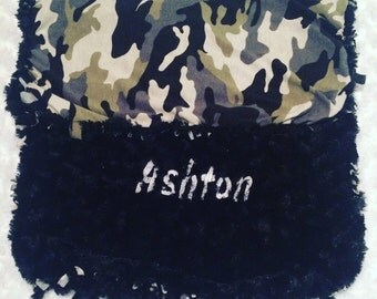 Personalised Camouflage Baby Blanket
