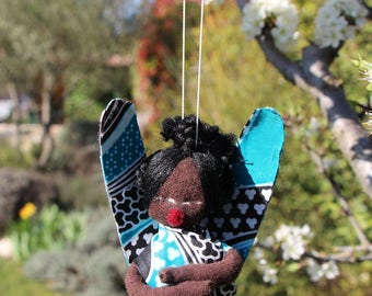 Decorative Angel African and MOSS cloth