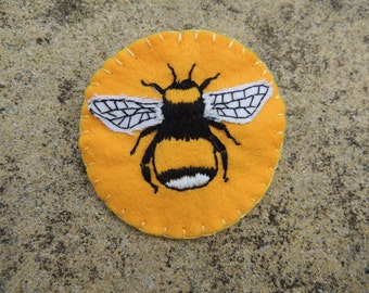 Big old bee brooch or patch