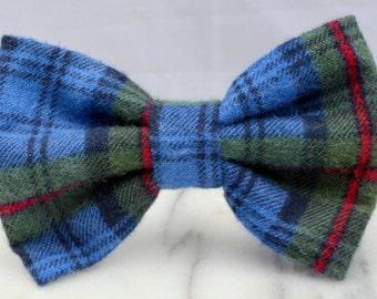 Blue Tartan Pre-tied Adult Bow Tie