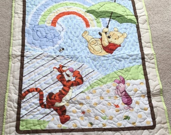 Winnie the Pooh, Tigger, and Piglet Baby Quilt