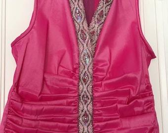 Vintage dressy top by Tadashi, size 6