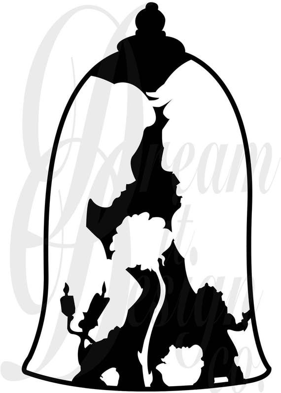 Disney Beauty And The Beast Design For Silhouette Studio Cut Files Clip Art INCLUDES SILHOUETTE FILE From DreamItDesignCo On Etsy