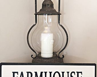 White Farmhouse Handcrafted Sign