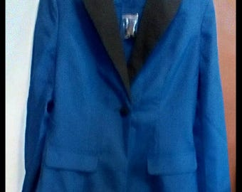 Price Reduced 1980's Style  Blue and Black Blazer