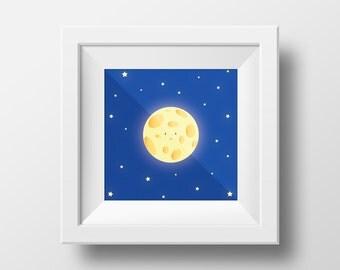 Little Moon print