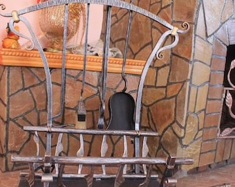 Accessories for fireplaces, grills,BBQ.Handmade.For firewood. With tools.Forging