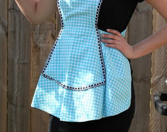 Swedish homemade vintage 1950s Apron // Serving Apron, Retro apron, Cooking apron, Women aprons, Cotton arpon,