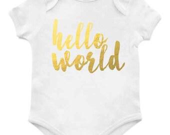 Hello World FOIL // Onesie