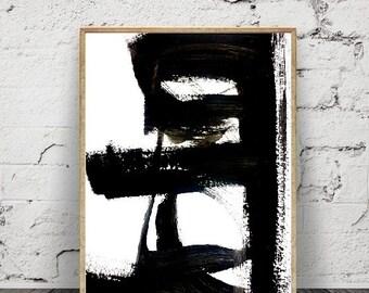 abstrait.art et collection minimaliste moderne impressionabstraite Brush Stroke Wall Art,imprimable en téléchargement numérique grand format