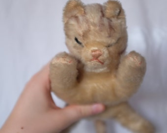 Old steiff cat stuffed animal