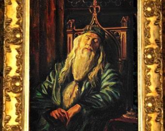 Dumbledore, Harry Potter, Hogwarts, Oil painting,