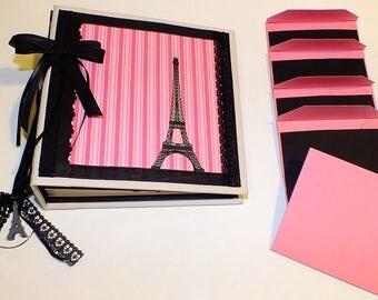 Paris Eiffel Tower Writing Journal | Sketchbook | Notebook | Diary | Blank Notebook | Sketch Diary
