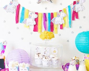Party Pack printable unicorns