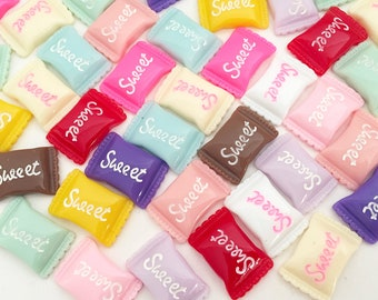 Candy Cabochons - Sweet (12 pcs) Kawaii Cabochons Resin Flat Back Cell Phone Deco