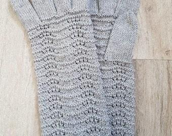 Gray knit mittens, winter mittens, merino wool mittens, gray mittens, winter mittens, warm mittens, merino gloves, gray gloves, knit gloves