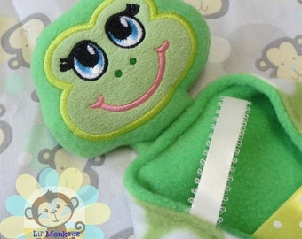 Girl Frog Sensory Security Blanket Lovey/Small Size