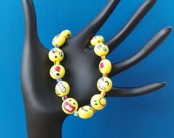 Emoji stretchy bracelet
