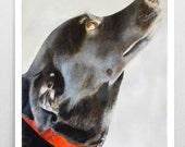 Black Lab Watercolor Dog Painting Black Lab Painting Black Lab Poster Lab Wall Art Black Lab Print Dog Art Dog Print