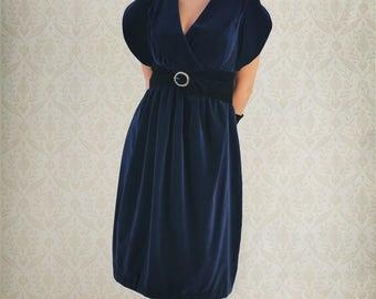 Dress Blue Velvet - Blue Velvet Dress
