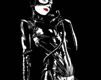 Vector Illustration - Catwoman - Instant Download Digital File