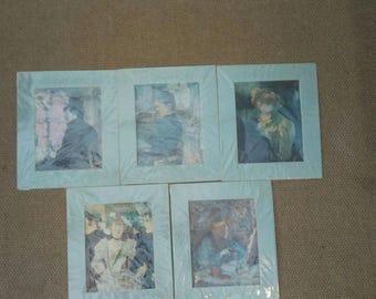 French impressionists prints x 5
