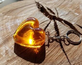 Resin Love Heart Key Ring , Cute, Pretty, valentines, sweetheart, loveheart