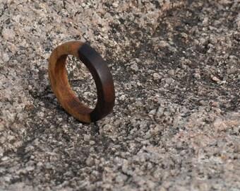 Bolivian Rosewood Wood Ring, Natural Wood Ring, Mens Wood Ring, Womens Wood Ring, Wood Jewelry