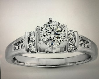 Engagement Ring TW 1.93 carats