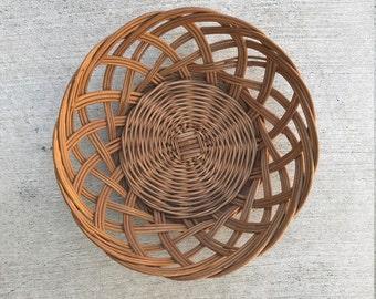 Vintage Woven (wall) Basket