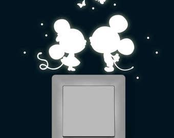 Butterflies fluorescent light sticker mice