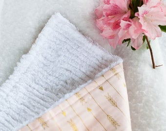 Baby Burp Cloth - Baby Girl Burp Cloth - Arrow Print - Baby Shower Gift