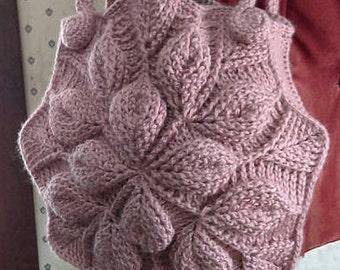 Embossed Garden crochet handbag, shoulder bag, crochet purse, tote
