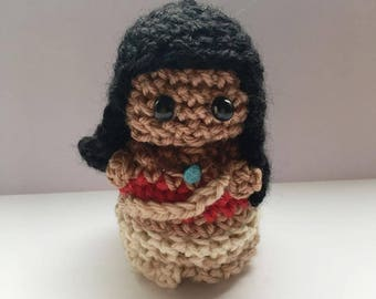 Princess Moana Amigurumi, Disney Princess, crocheted