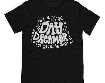 Day Dreamer (Black T-Shirt), Pastel Grunge, Chill Shirt, Soft Grunge, Tumblr