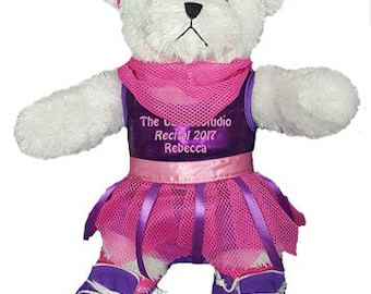 Personalized White Hip Hop Girl Bear