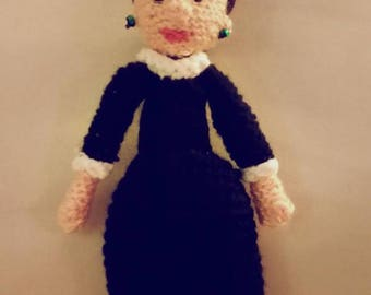 crAFty Characters: Ruth Bader Ginsburg Doll // the Feminist AF, Girl Boss// Feminist Doll