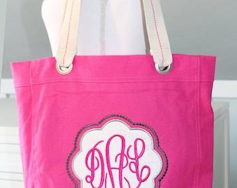 Monogrammed Appliqued Tote Bag