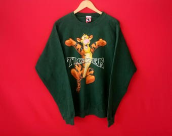 vintage tiger sweatshirts cartoon mickey mouse large mens
