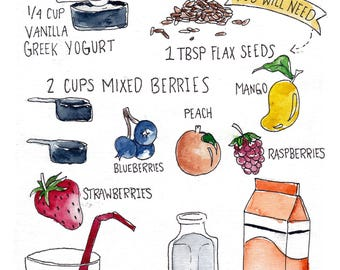 Get Well Smoothie Recipe Card