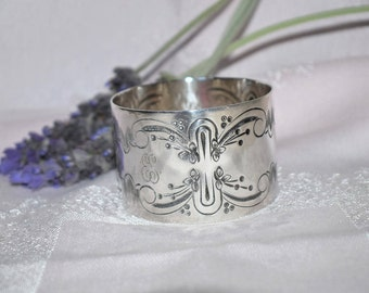 Vintage French silver plated serviette ring