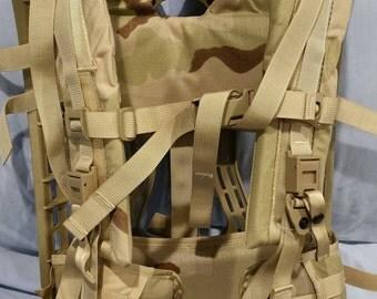NEW US Army Issue Molle II Rucksack Frame, Shoulder Straps, Belt, Quick Release and Upper Frame Straps
