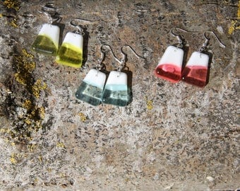 Healing water collection pyramid earrings