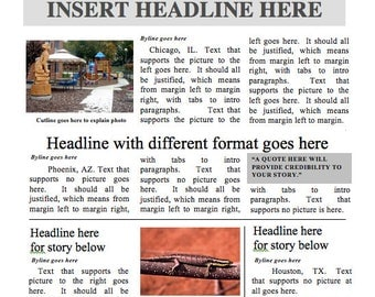 Designed by a Teacher Newspaper Template - Instant Download For Unlimited Use in MS Word