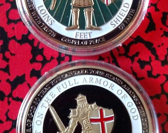 Armor of God Green Challenge Art Coin