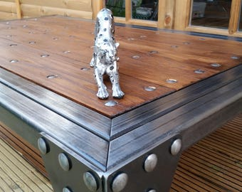 Industrial Coffee Table, Handmade,Steel,Oak & Bespoke,