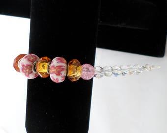 Bracelet 'Floral Fun' Pink and Orange